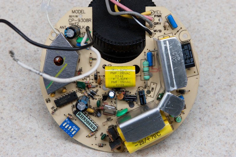 Cp 9308r Ver F2 Control Unit From A Hunter Ceiling Fan This Board Is Normally Located In The Shroud Where The Fan Mounts To